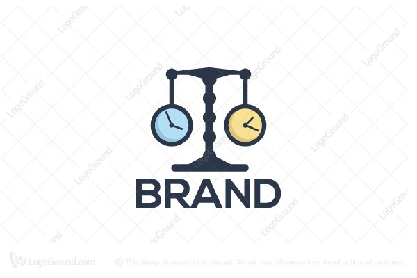 Logo for sale: Legal Time Logo